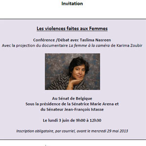 Invitation Conf�rence Viol:Camer.be