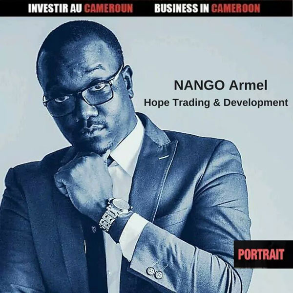 Cameroun: Portrait Armel Nango , 27 ans, Ceo and founder de Hope Trading & Development , un cabinet d'accompagnement des entreprises :: CAMEROON